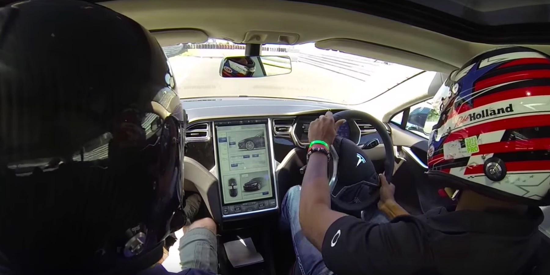Inside right hand drive Tesla Model S