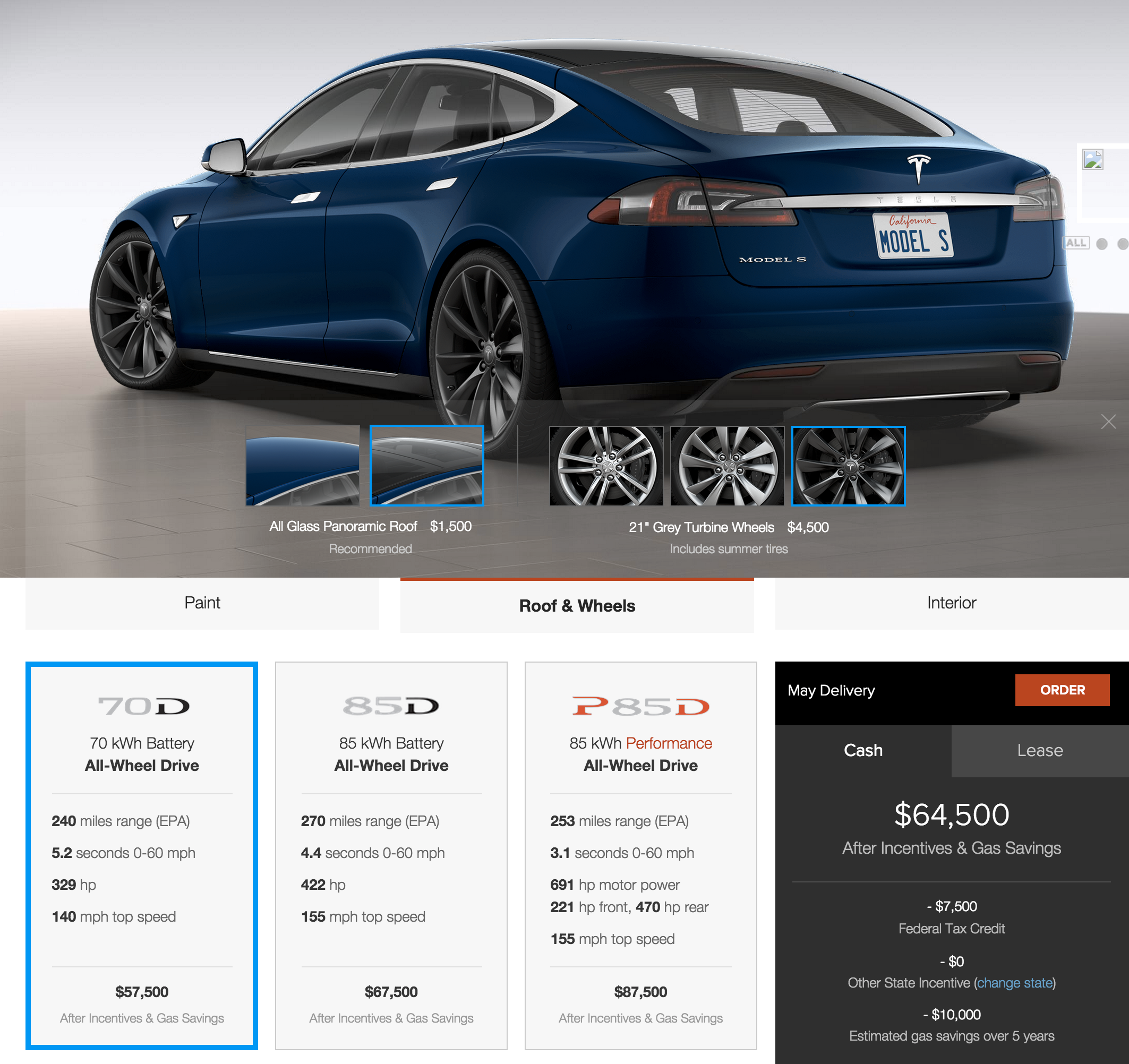 Tesla Announces New 75 000 Low End Model S 70d Awd And More Color Options