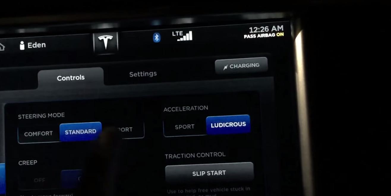 Tesla-ludicrous-test drive