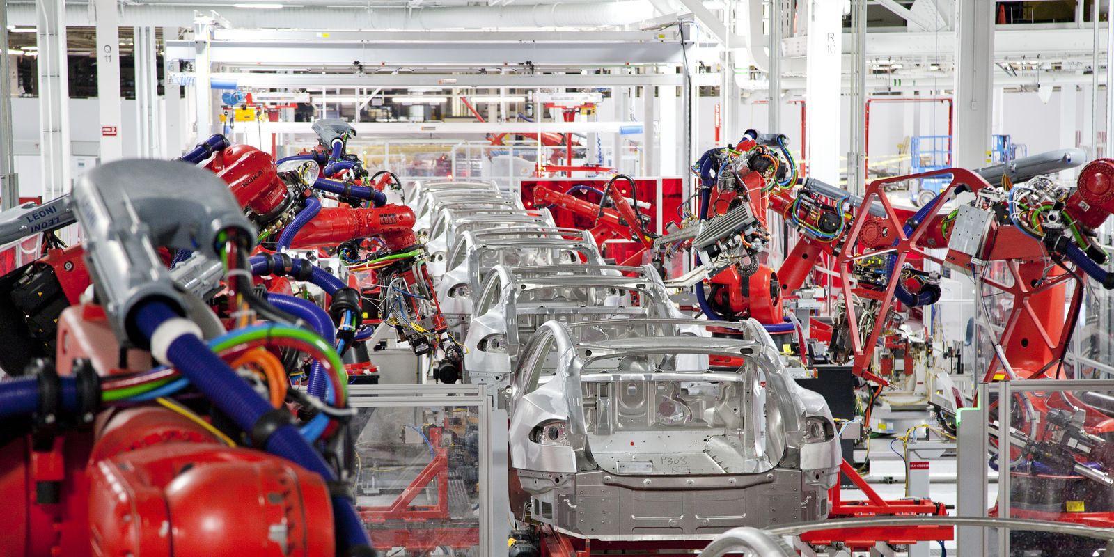 Model S body factory