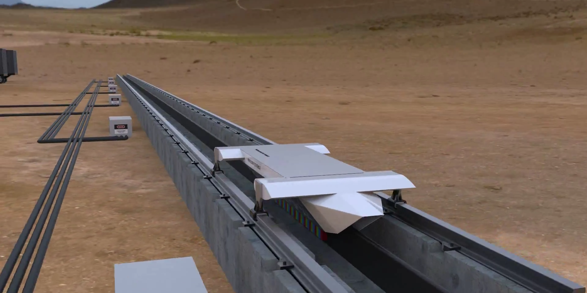 Hyperloop tech test track