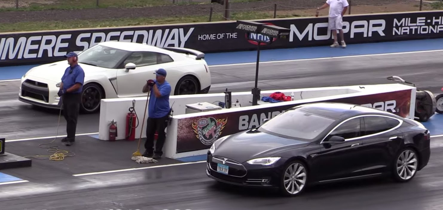 Model S drag race