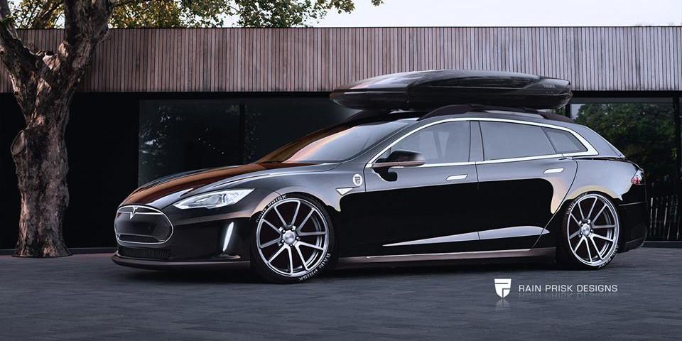 Model S wagon rain prisk design