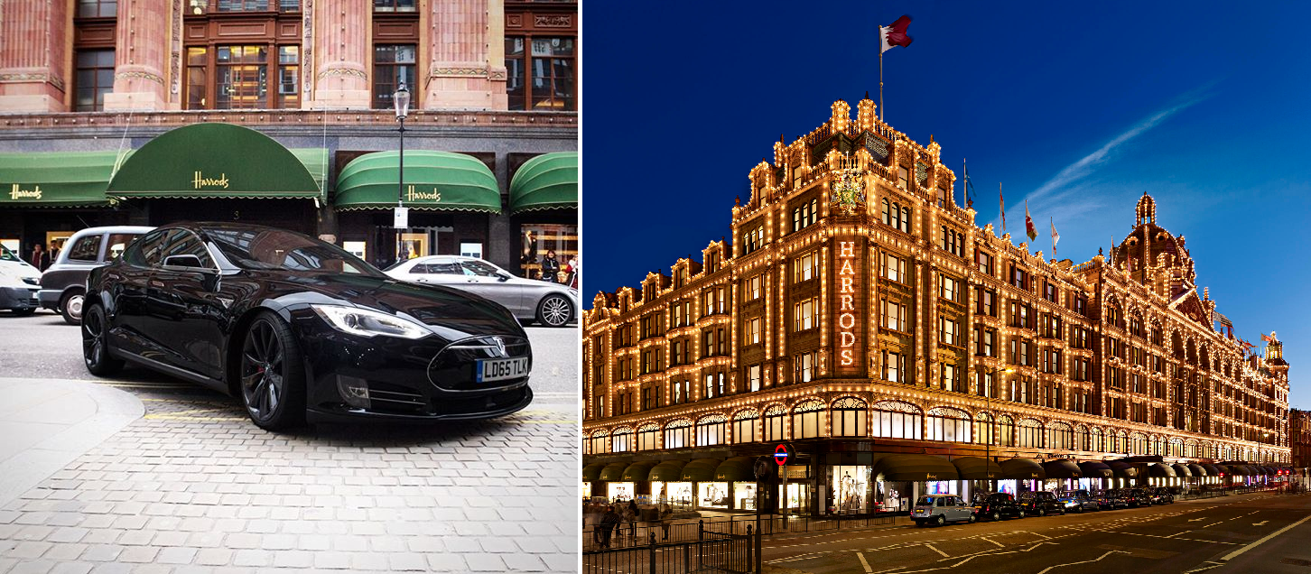 Tesla Harrods London