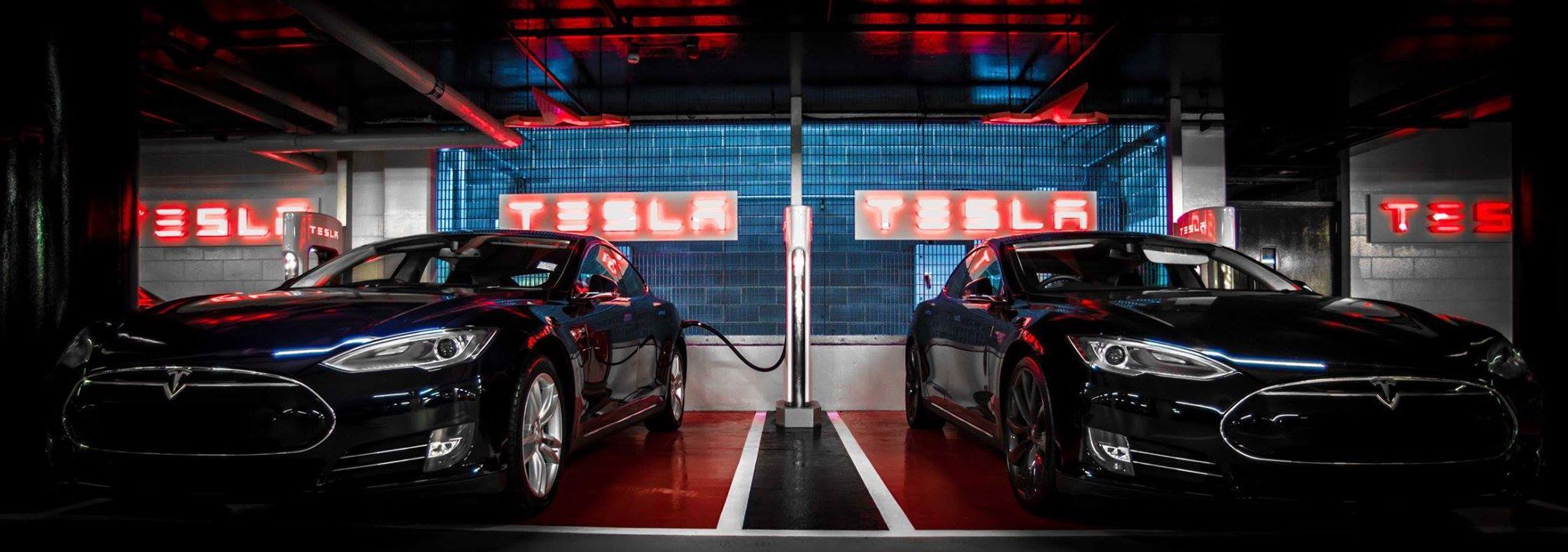 Tesla underground supercharger london