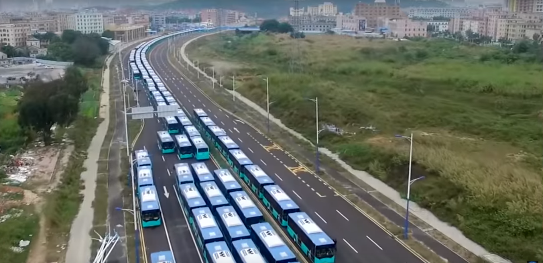 biggest electric bus fleet
