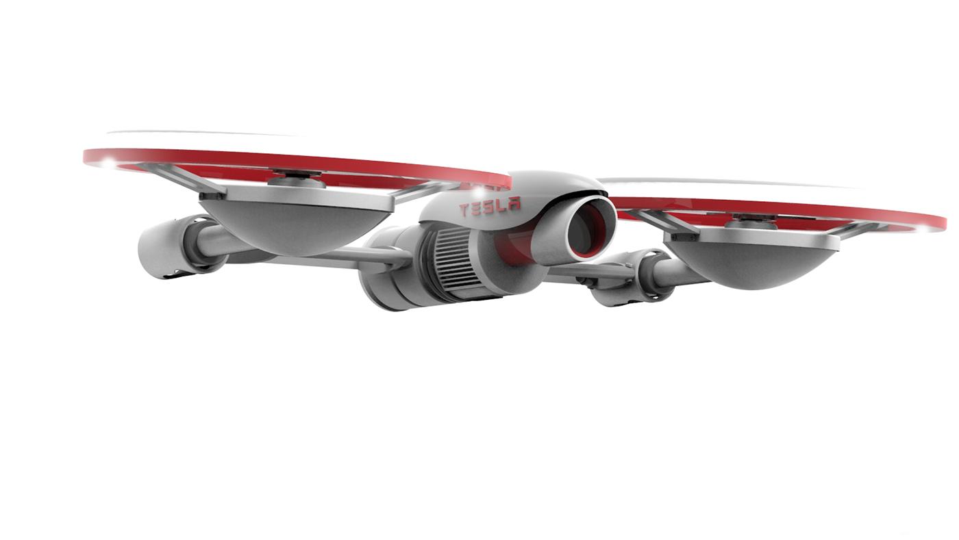 drone-tesla-side