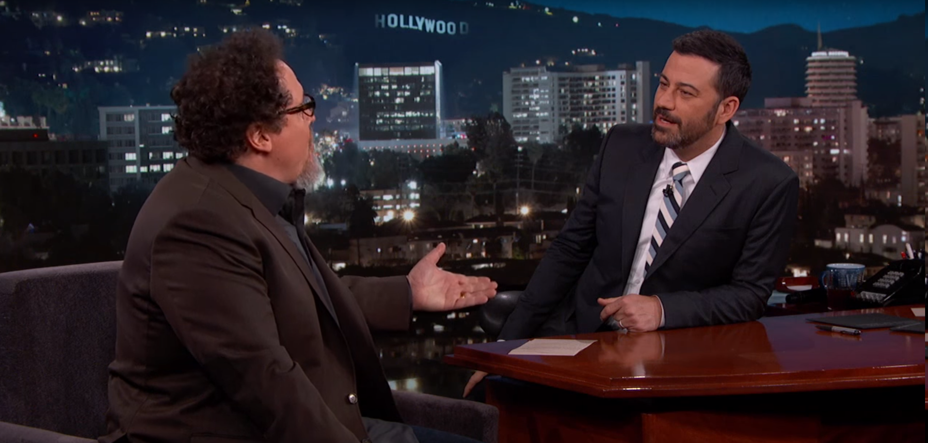 Jimmy Kimmel and Jon Favreau