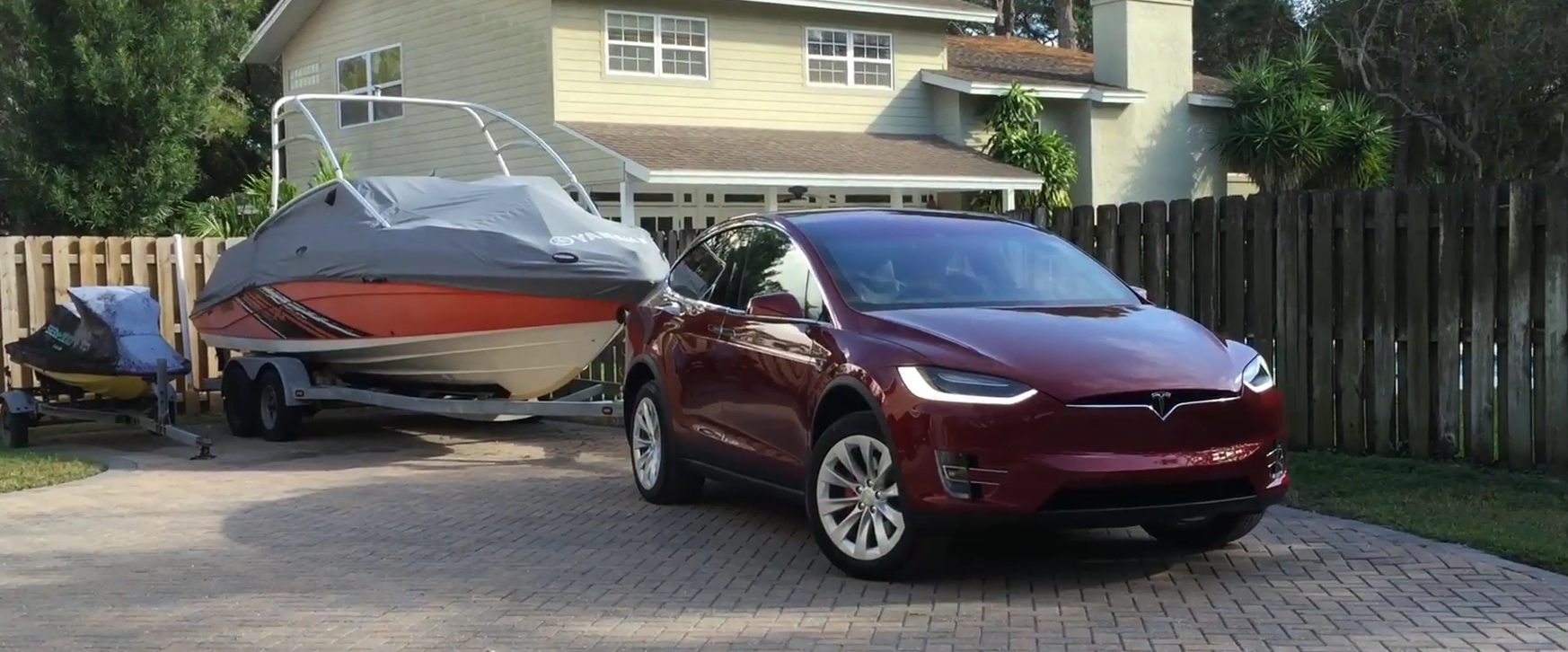 Model X towing a boat - Max Kennedy youtube