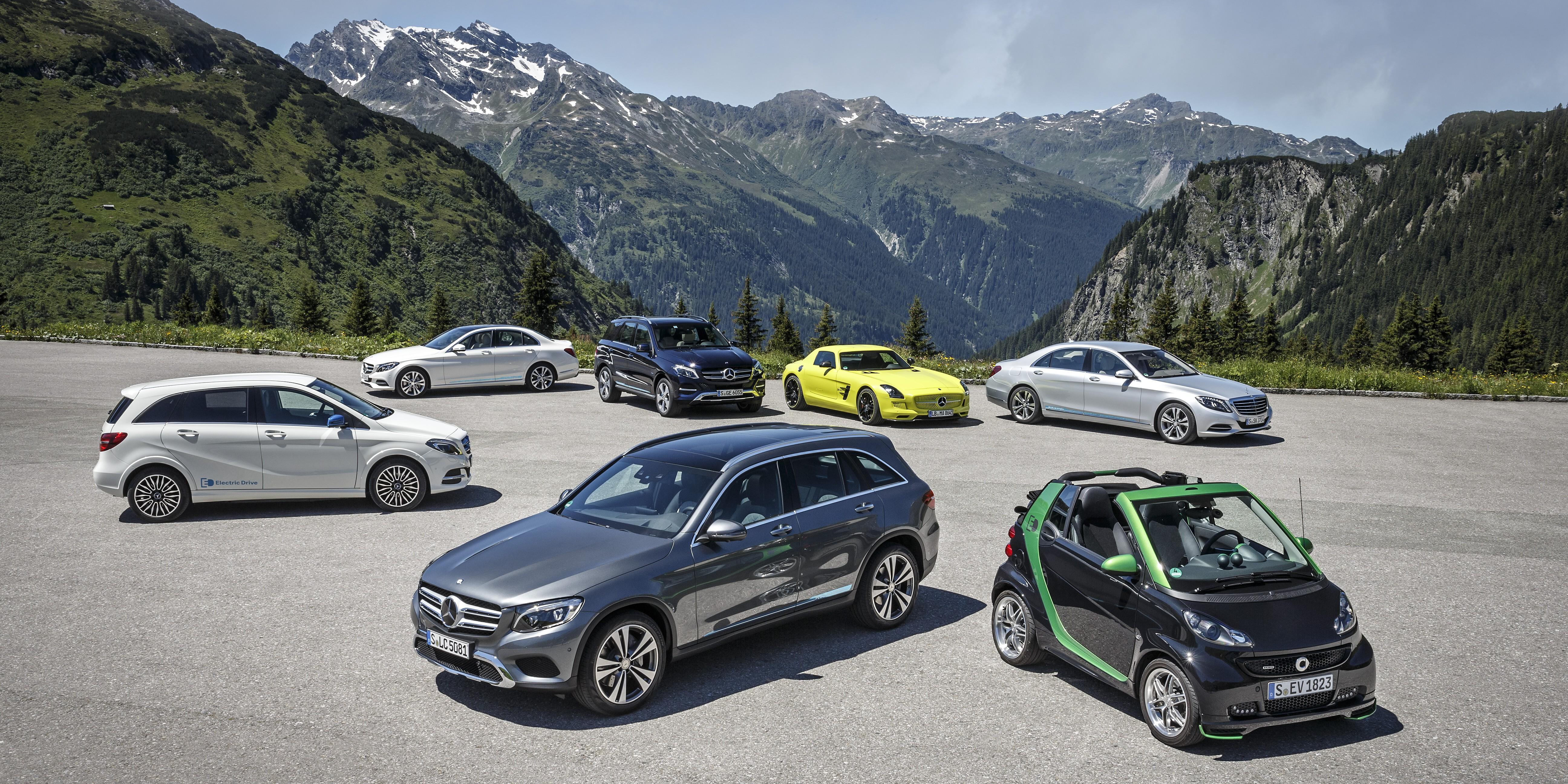 Mercedes-Benz auf der Silvretta E-Auto Rallye 2015