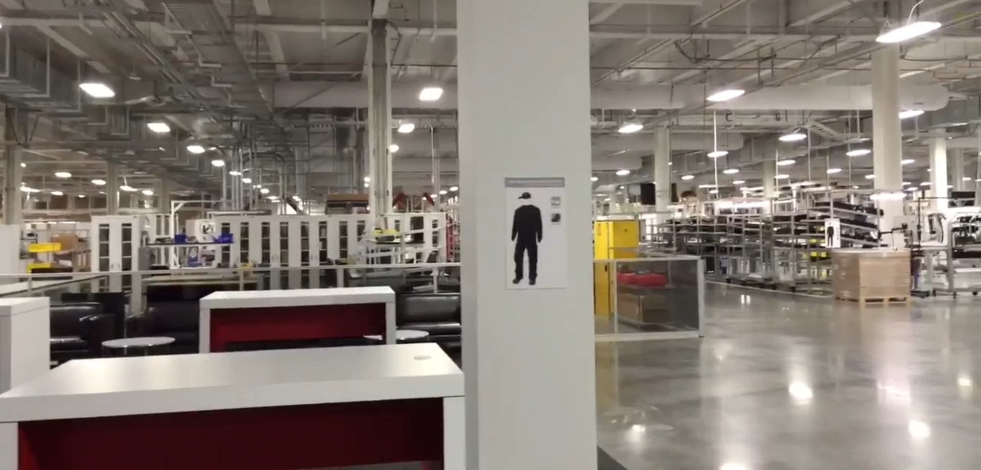 inside Tesla gigafactory