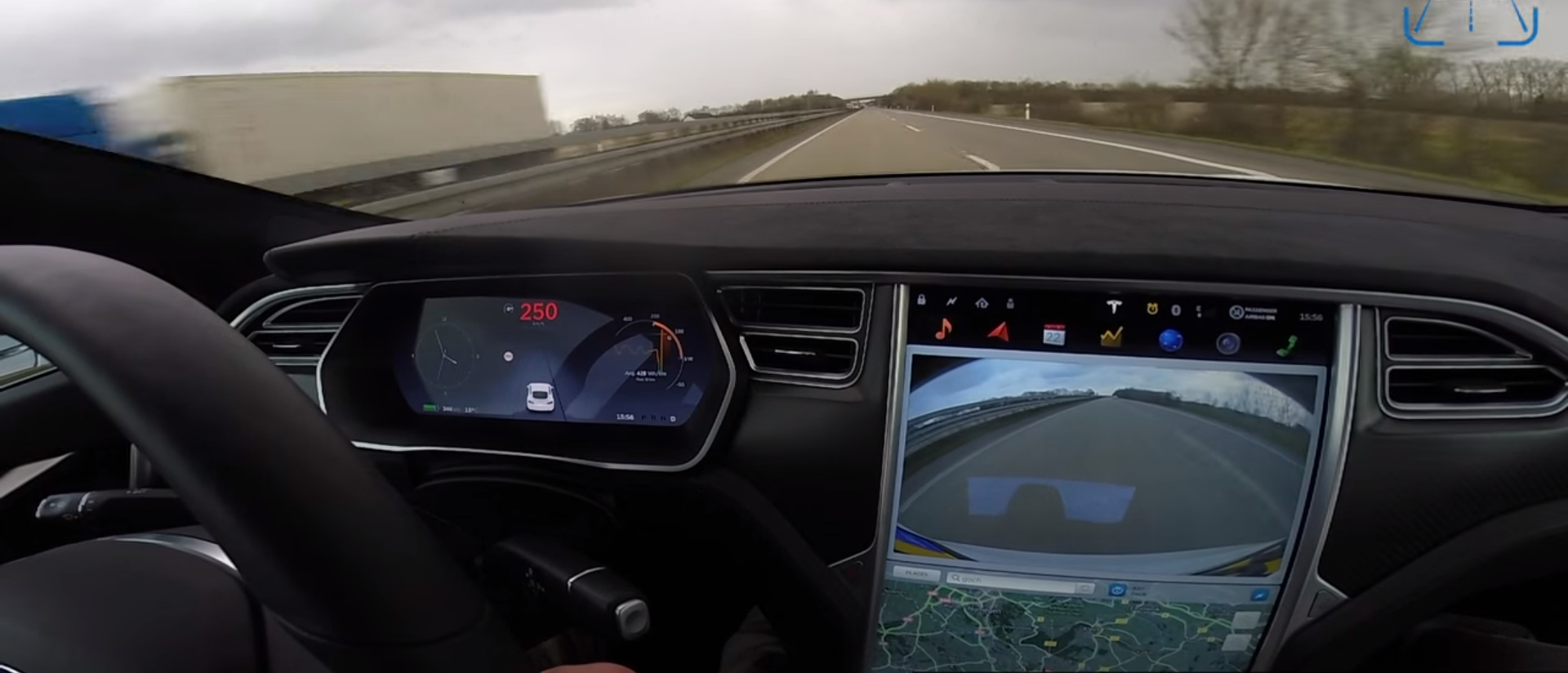 Tesla Model S P90D Ludicrous top speed & acceleration test on the ...