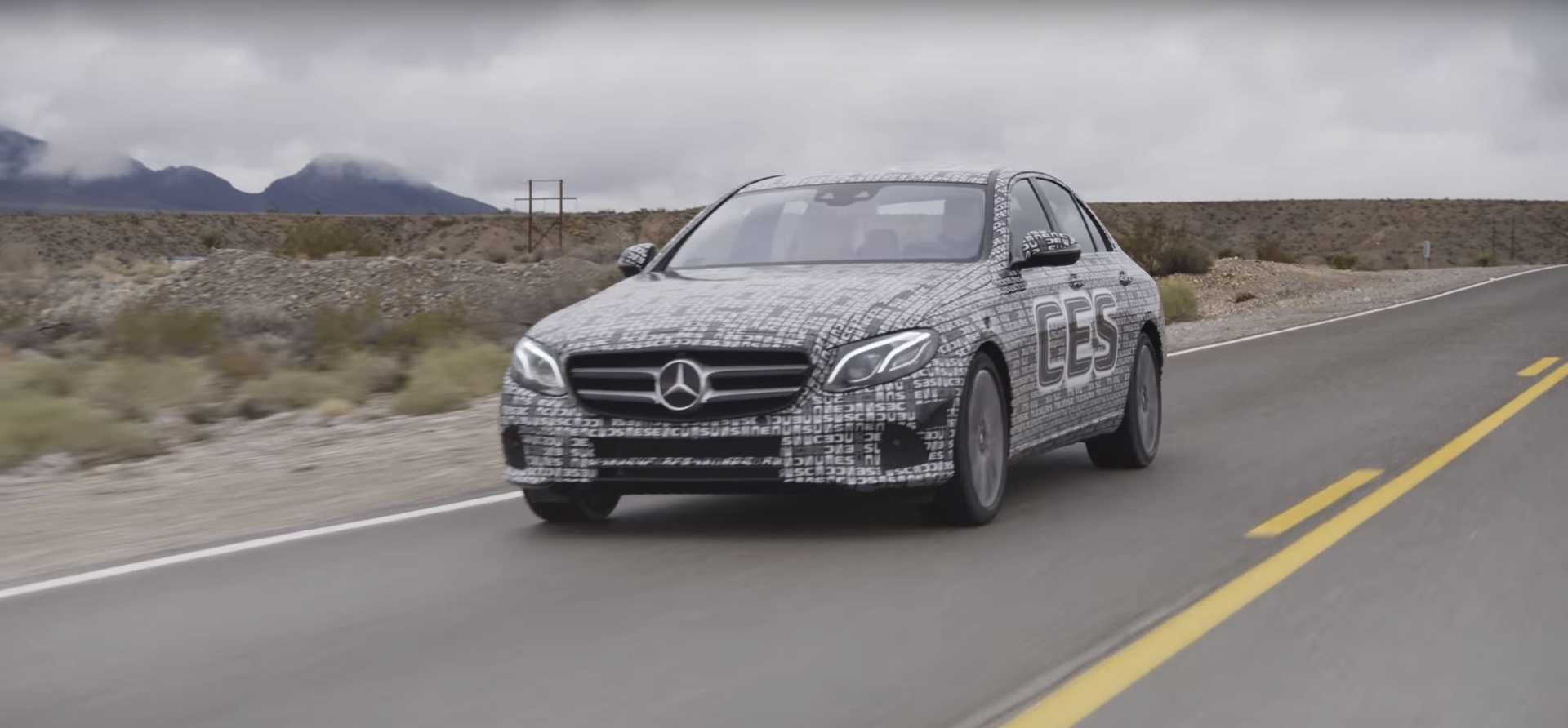 Mercedes autonomous e-class