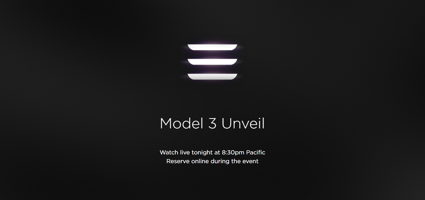 Model 3 livestream