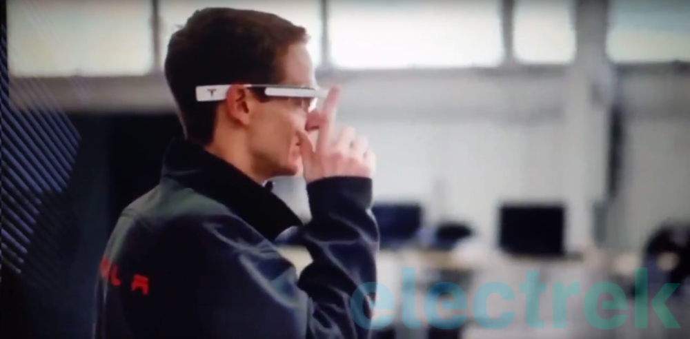Tesla patents Google Glass-like AR system for factory workers