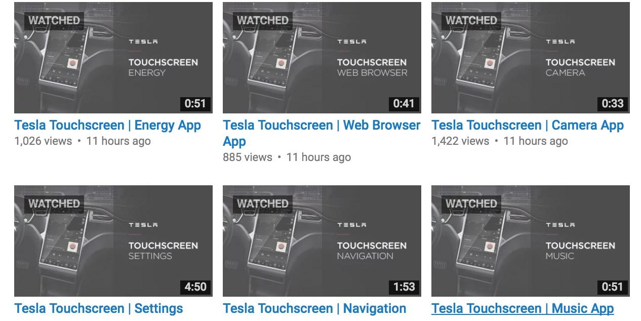 Tesla-Videos