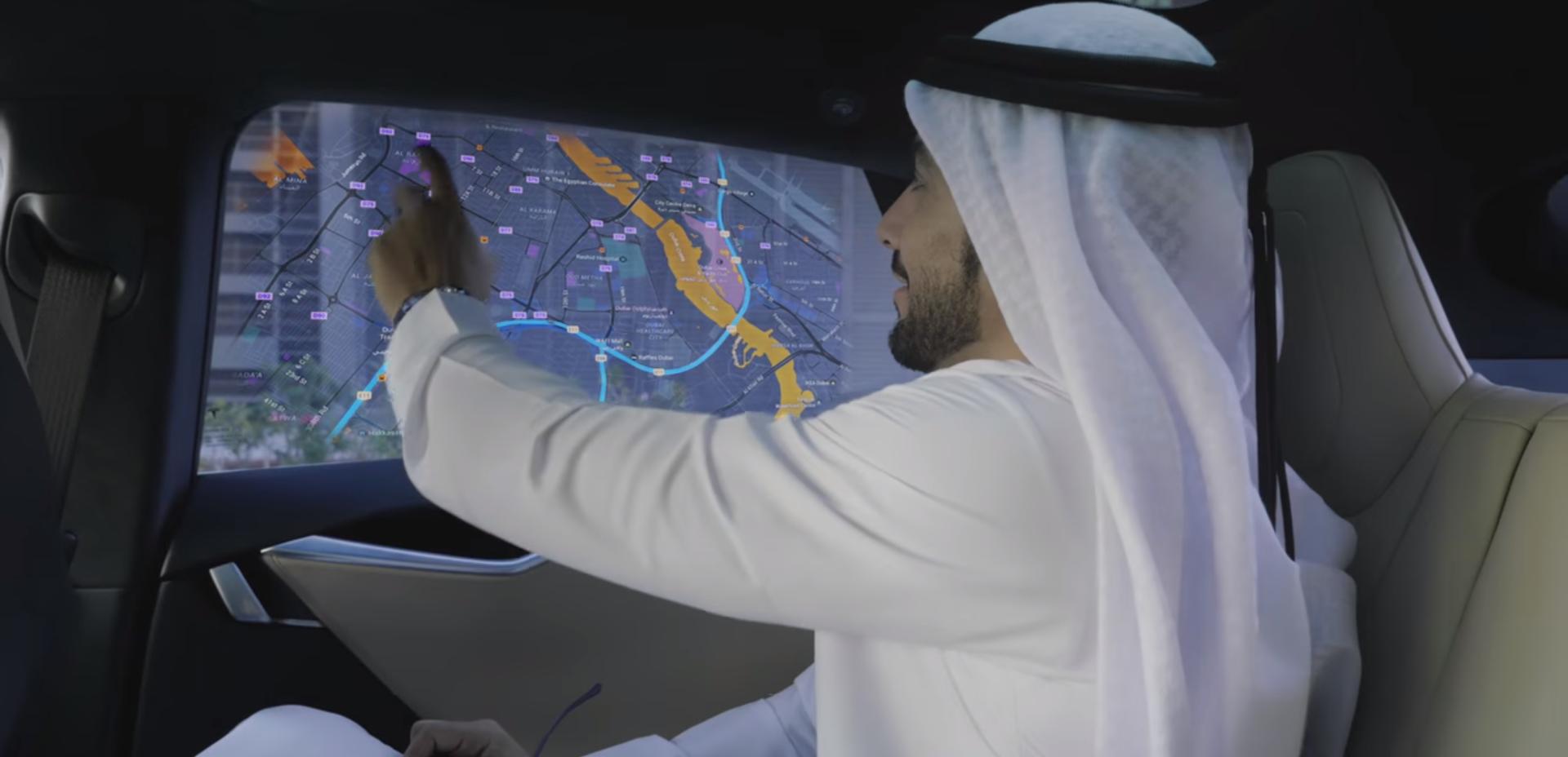 dubai driverless tesla concept
