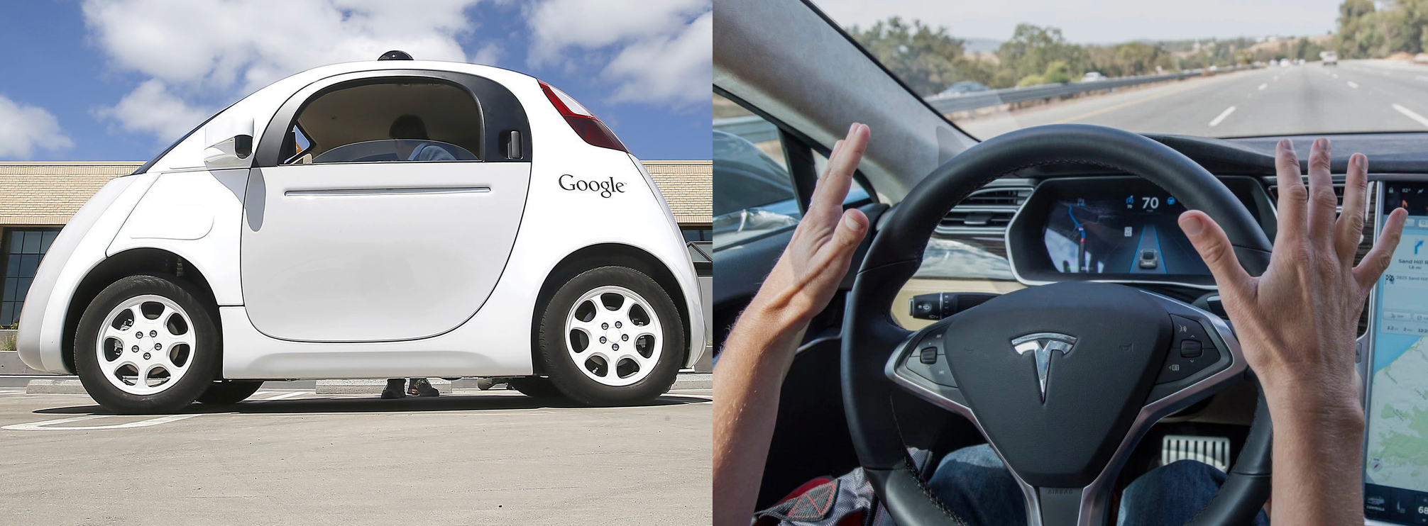 google 39 s self driving car vs tesla autopilot 1 5m miles in 6 years vs 47m miles in 6 months. Black Bedroom Furniture Sets. Home Design Ideas