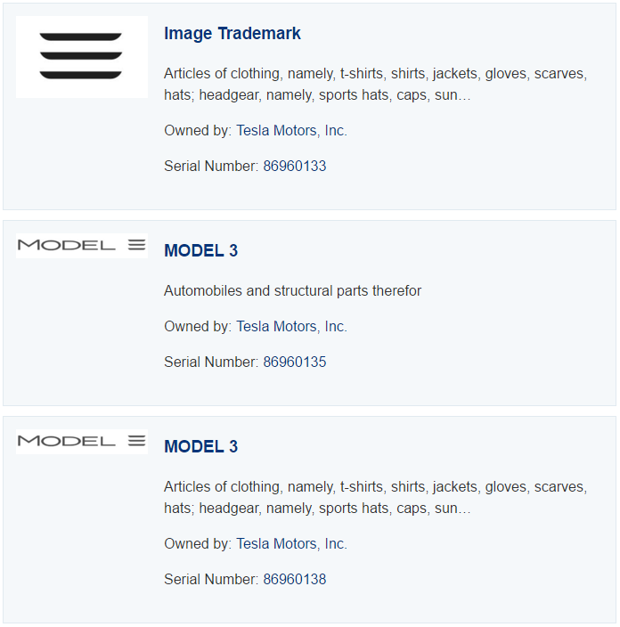 model 3 trademark 1