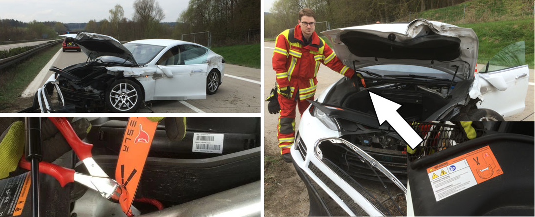 model s crash firefighter