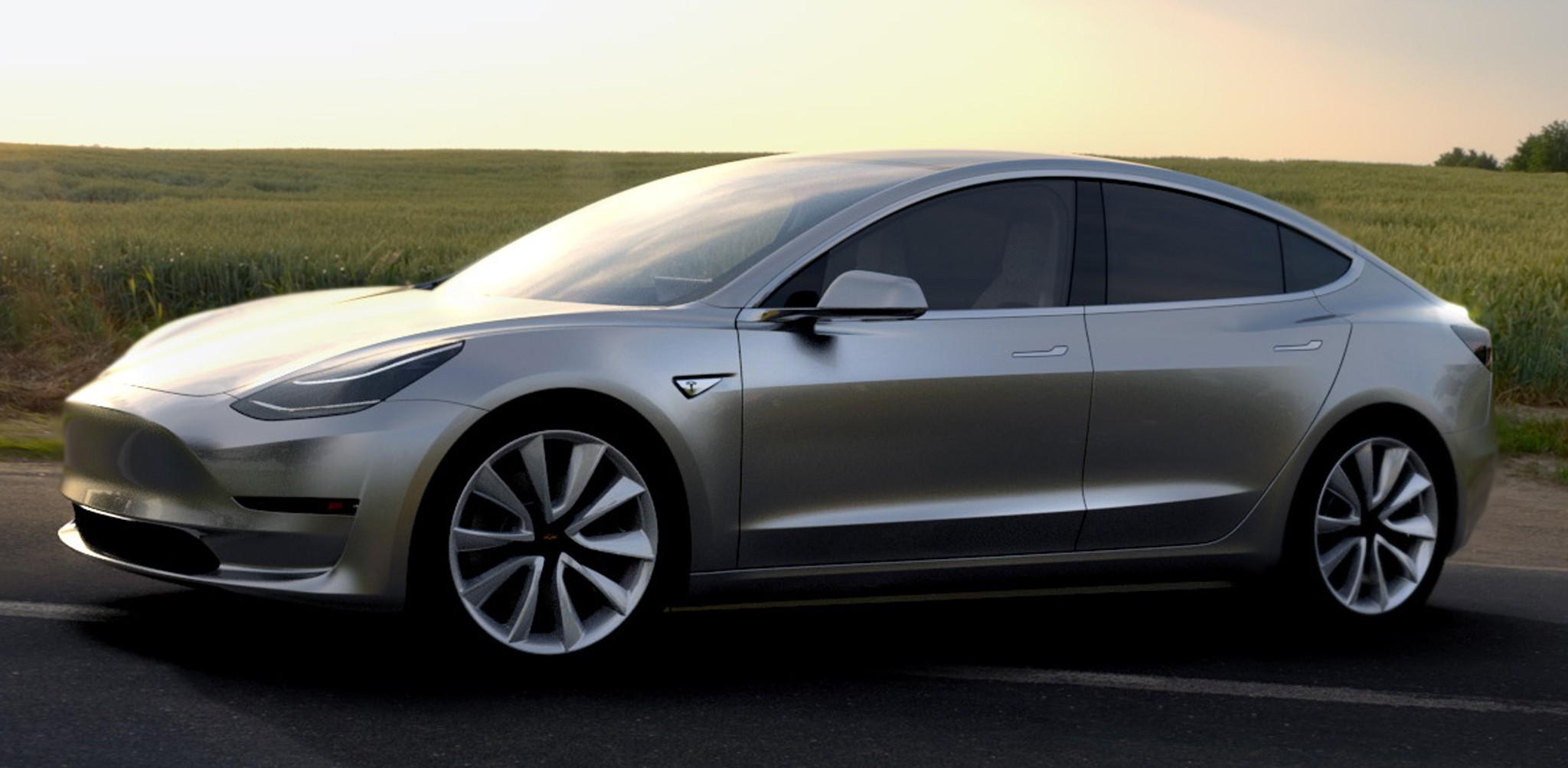 Tesla-Model-3-side-front-view-parked