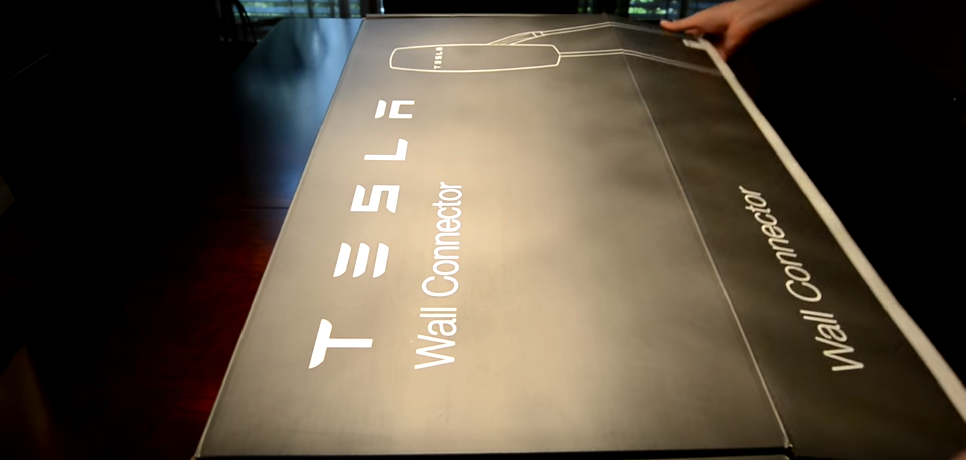 unboxing tesla wall connector