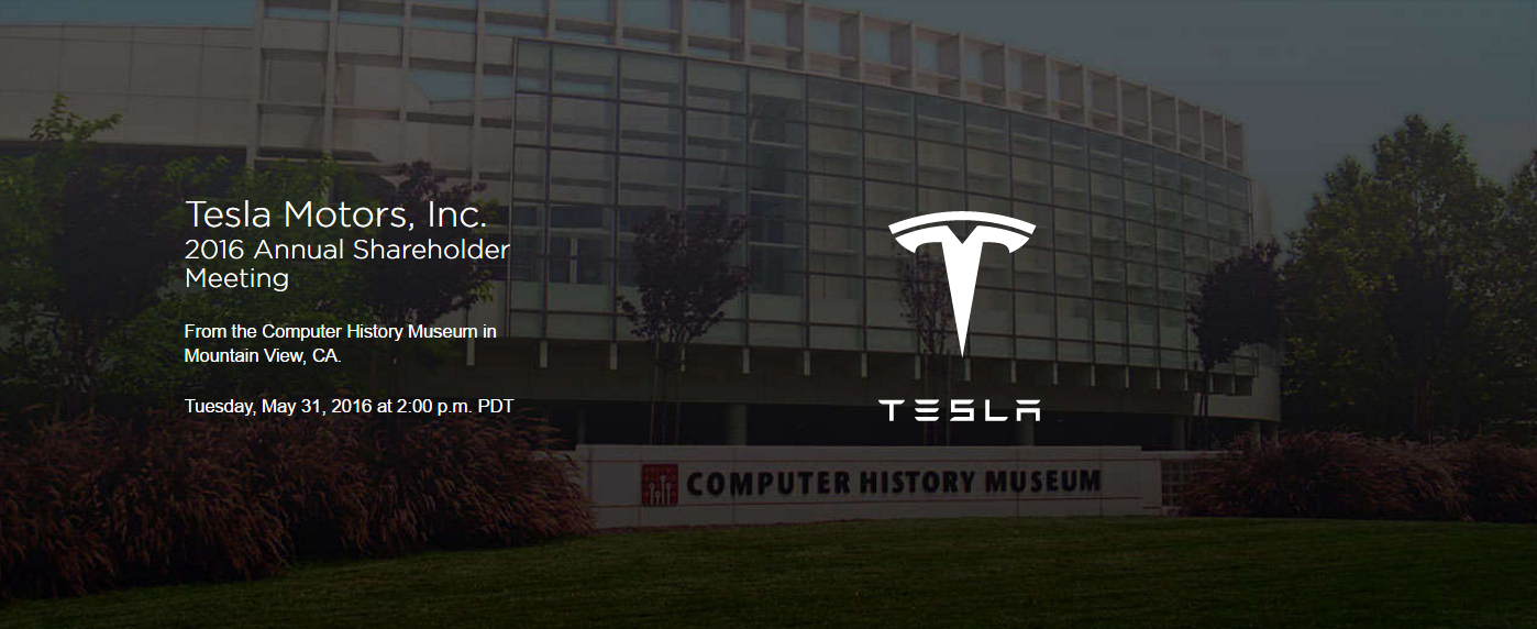 tesla 2016 shareholders meeting