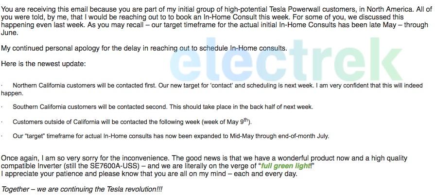 Tesla Powerwall-late
