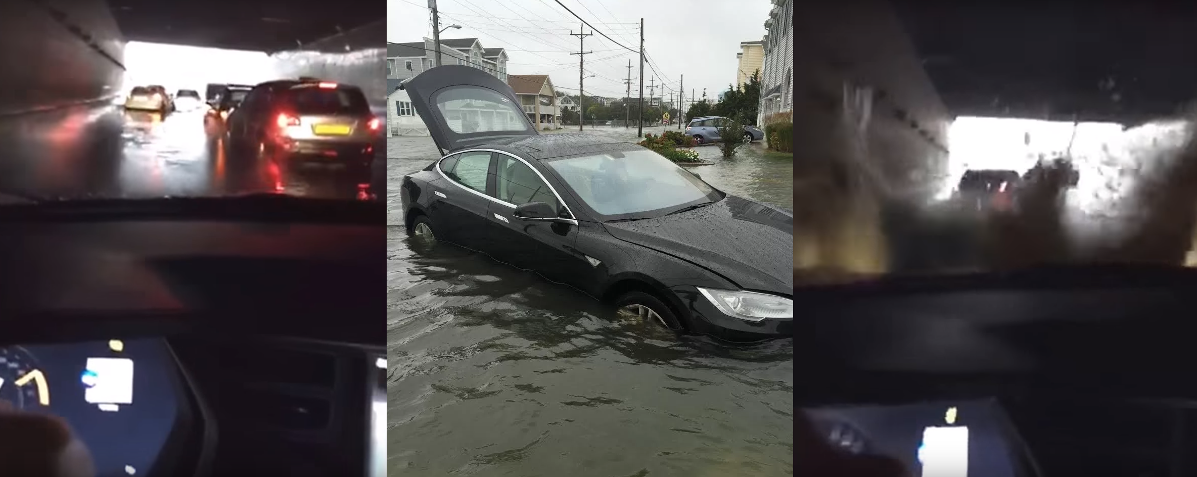 flooded tesla Model S