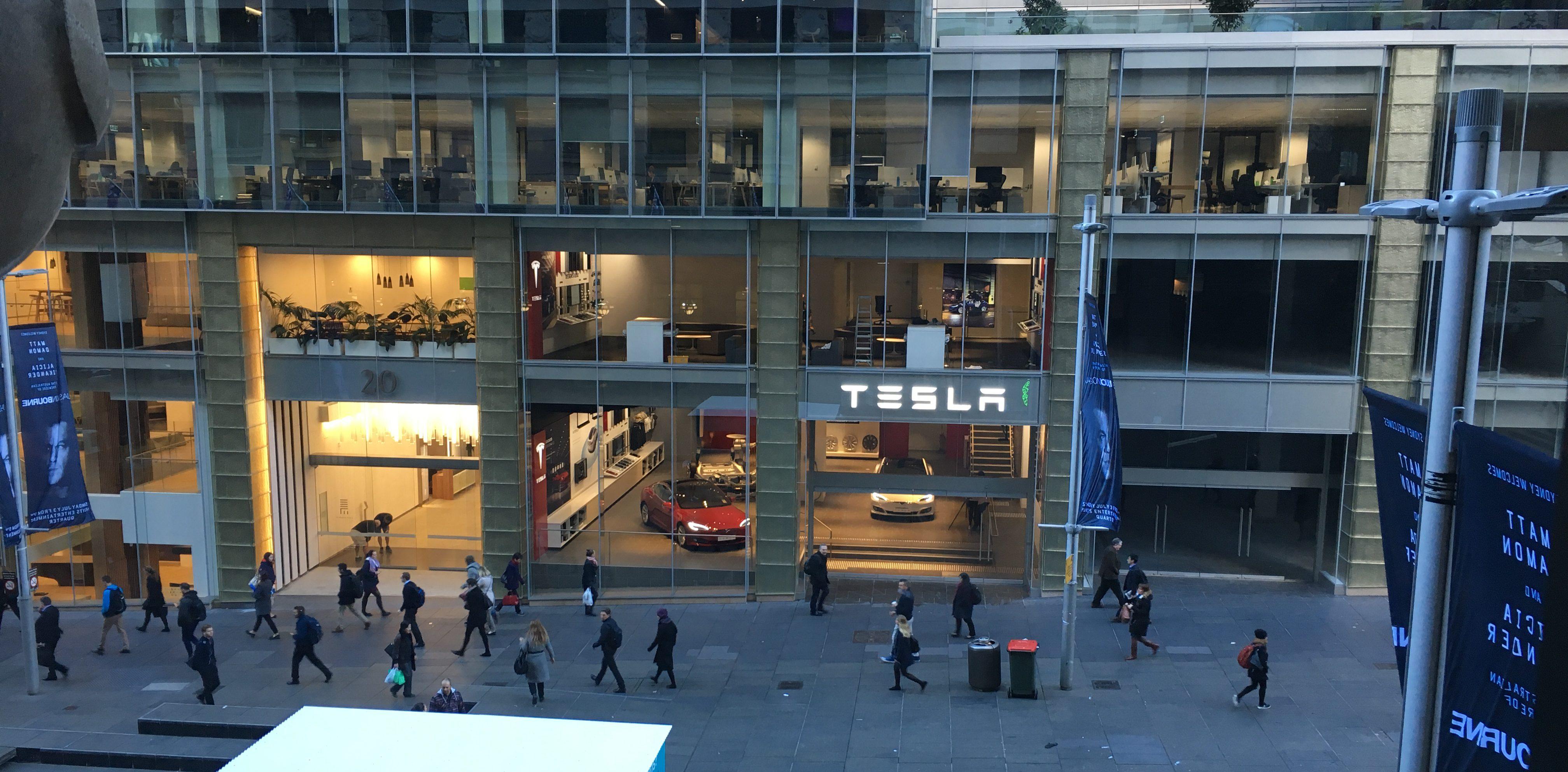 Tesla store Sydney Martin Place 1