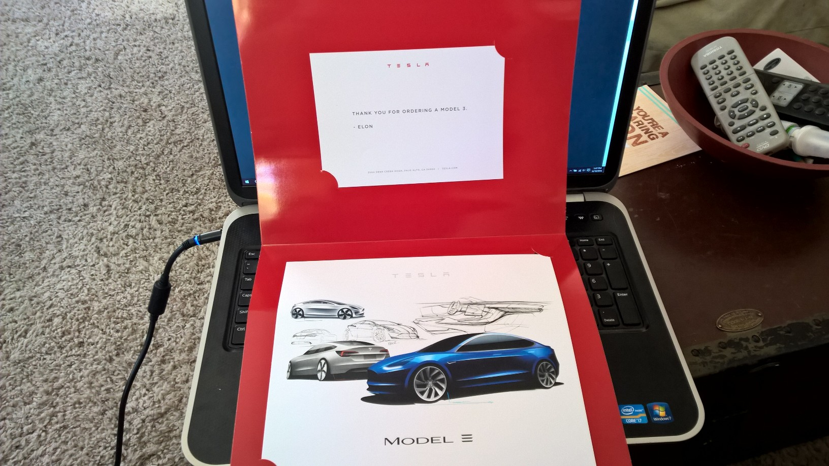 model 3 thank you gift