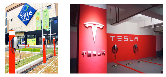 tesla china destianation chargers