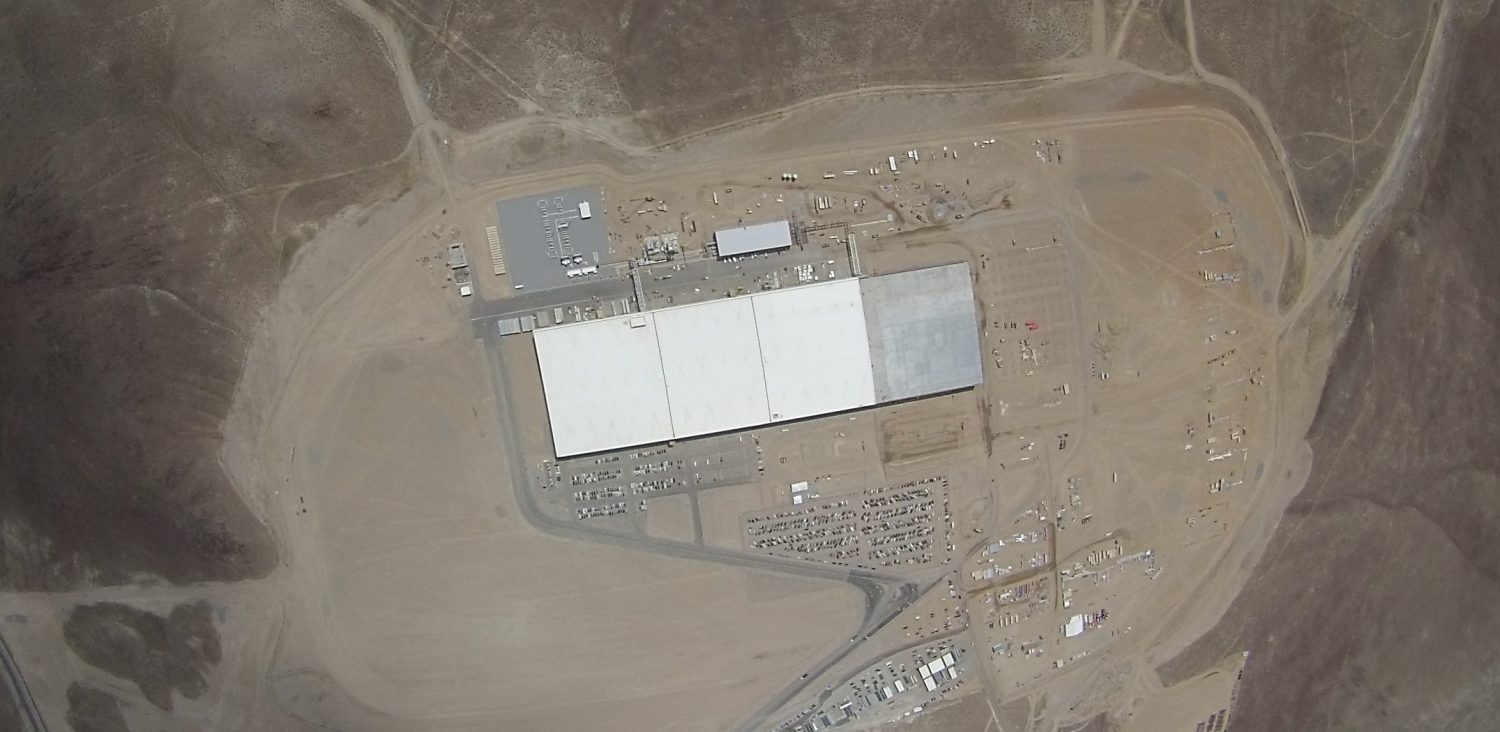 tesla gigafactory bird eye