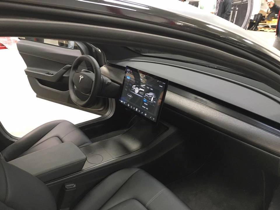 New Tesla Model 3 Prototype Pictures With Rare Shot Of The Interior Gallery Electrek