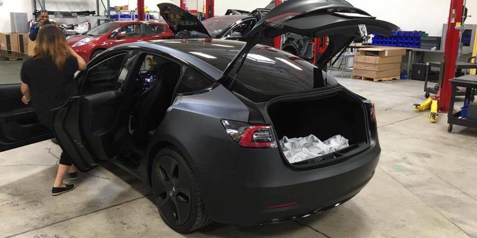 Tesla Model S Trunk Seats