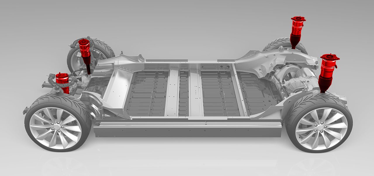 Tesla leaks new air suspension coming for Model 3 - Electrek