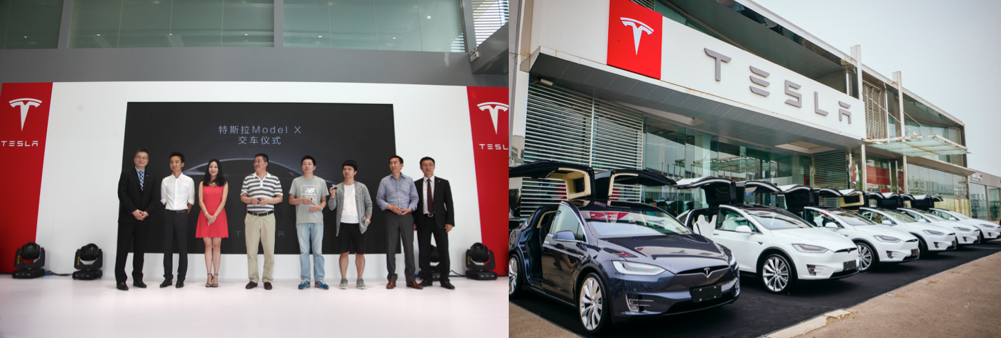 tesla model x delivery china