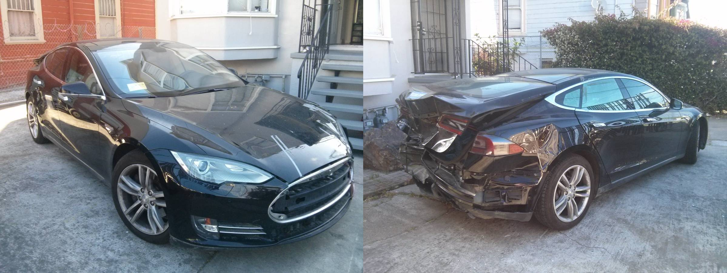 damaged Model S for sale