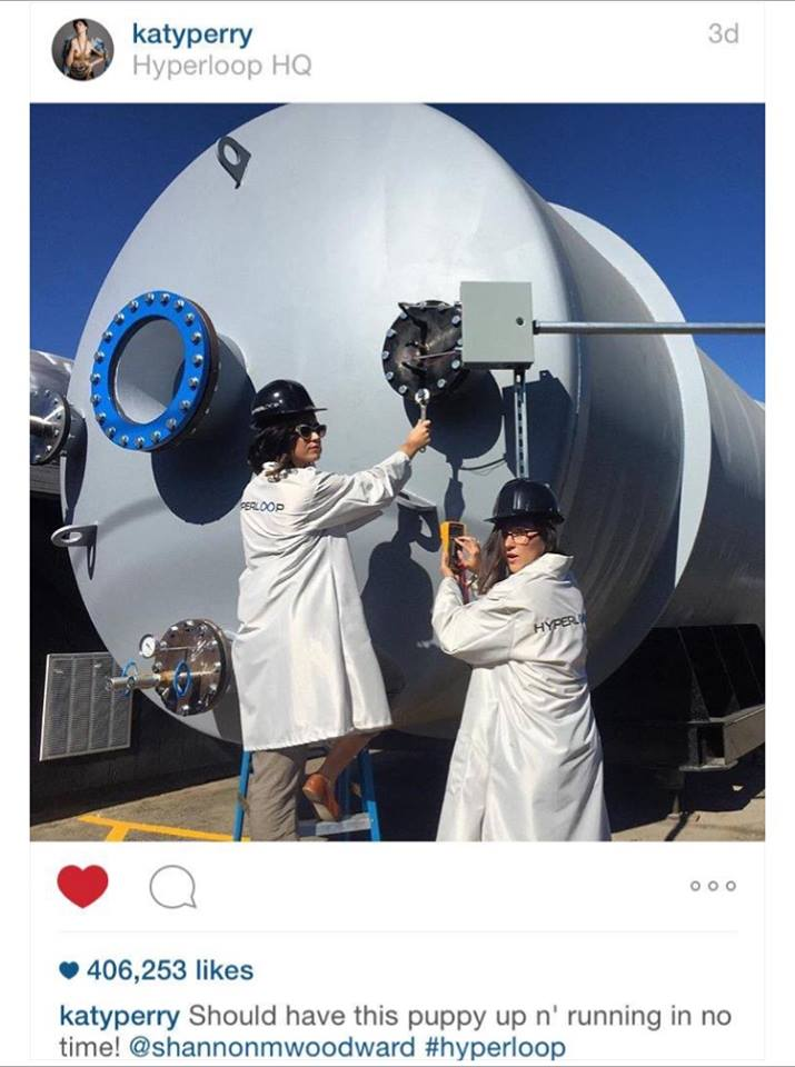 katy perry hyperloop one