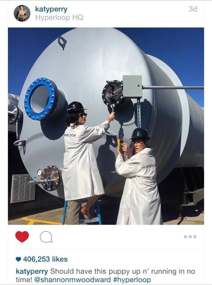 katy perry hyperloop one