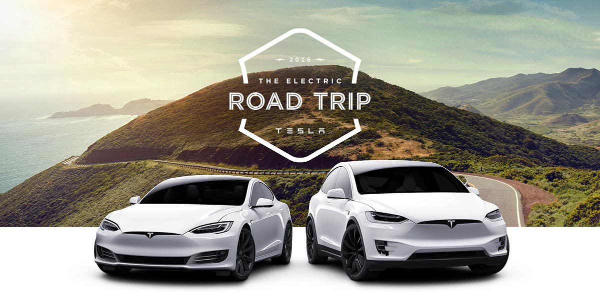 tesla electric roadtrip