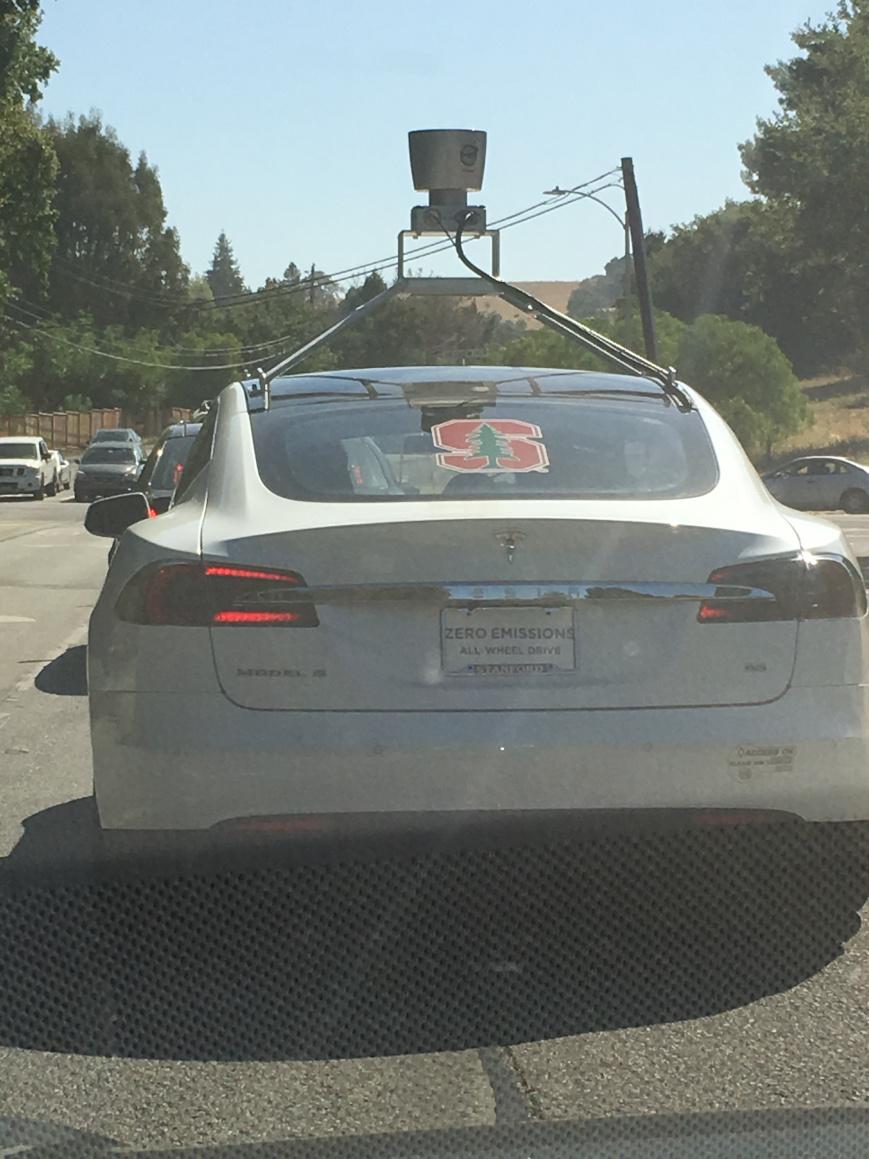 Tesla Model S lidar