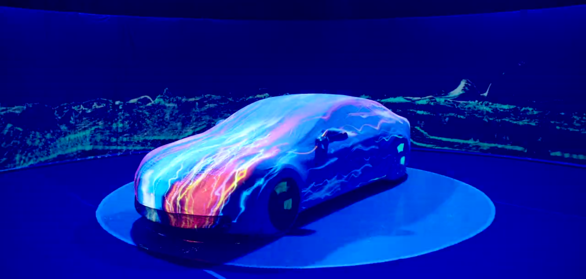 Tesla Model S projection mapping