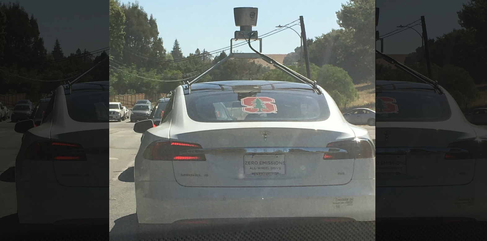 Tesla model S with LIDAr