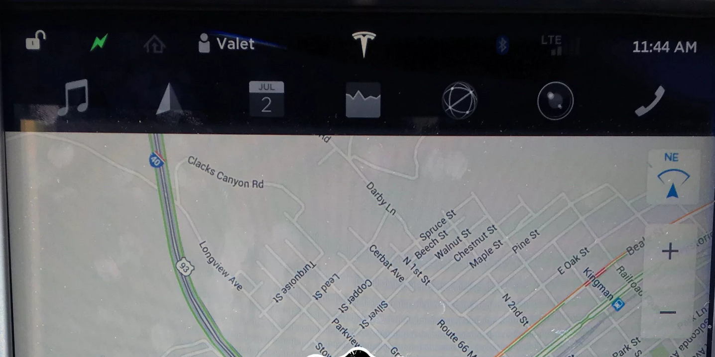 Tesla-Model-V8.0 software-screenshot