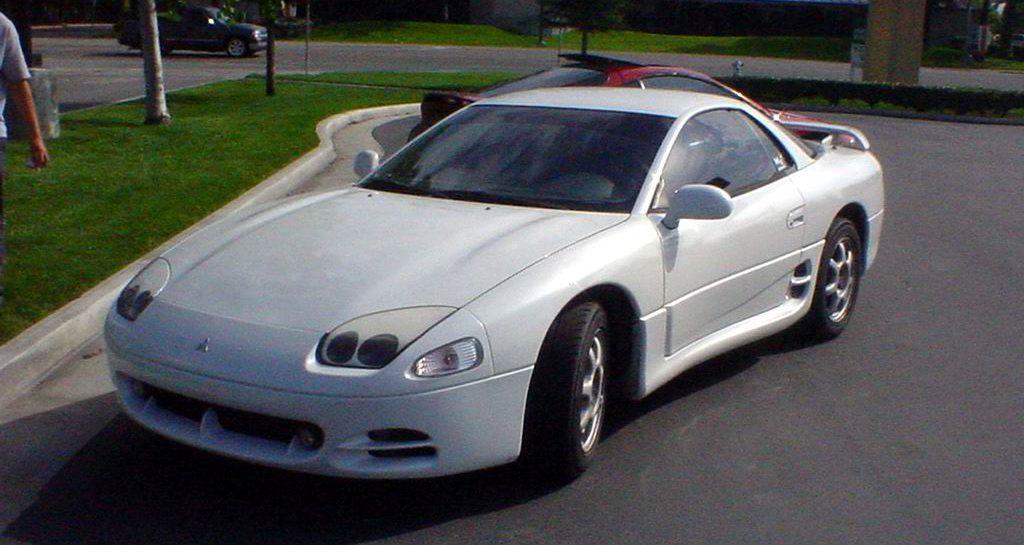 White Mitsubishi 3000gt Front