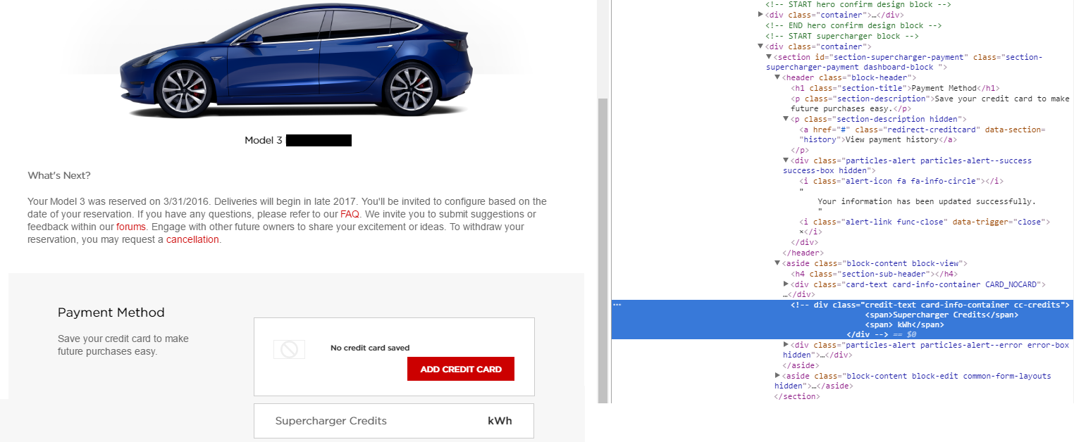 Model 3 supercharger credit