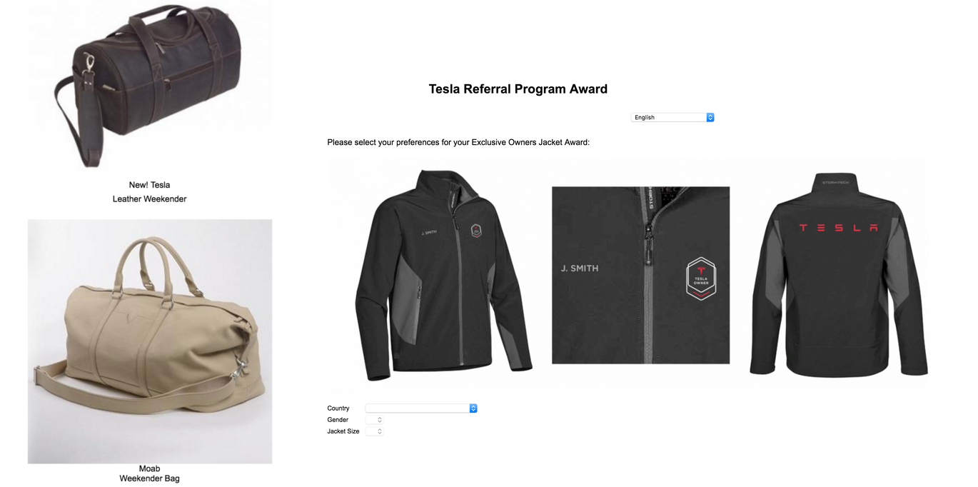 tesla bag and jacket