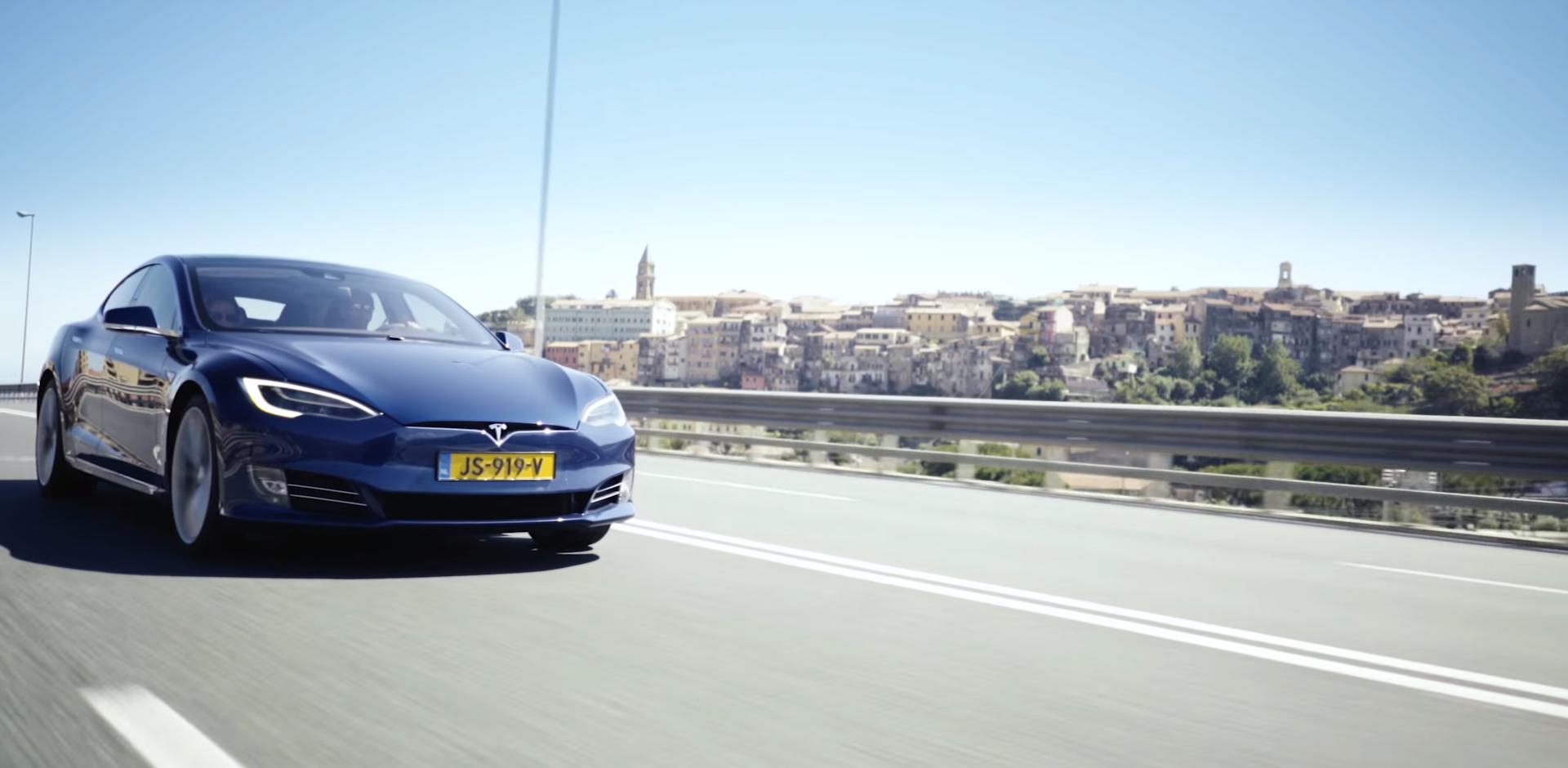 tesla Model S europe road trip