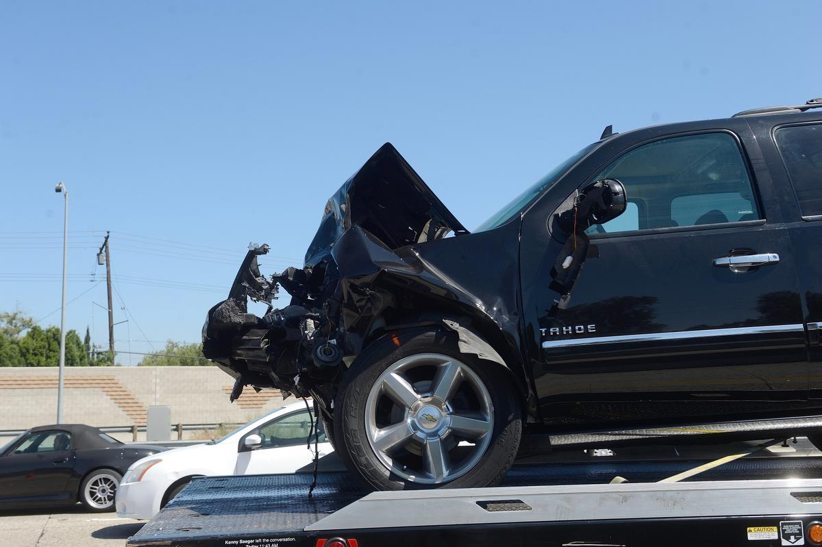 Rare fatal accident in a Tesla Model S rear-ended by a large SUV in